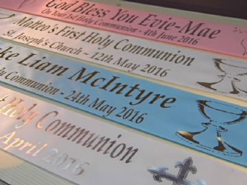 First Holy Communion Personalised Banner